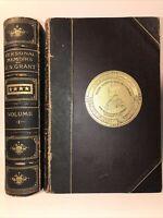LEATHER Set; ULYSSES GRANT PERSONAL MEMOIRS! 1885 Civil War Rare History Gift