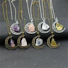 Rose Quartz Amethyst Citrine Healing Gemstone Natural Stone Chain Necklace