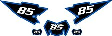 2008-2015 Yamaha WR250X Pre-Printed Black Backgrounds with Blue Bold Pinstripe