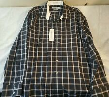 Henry Grethel Men's Classic Fit Black Plaid Button Down Dress Shirt Size 2XL NWT