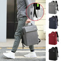 Unisex Anti-Theft USB Charge Port Business Backpack Laptop Travel School Bag SH