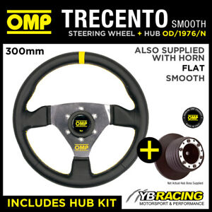 HONDA CIVIC VTI 96- OMP SMOOTH LEATHER 300mm TRECENTO STEERING WHEEL & BOSS KIT