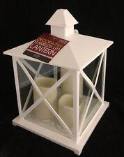 Large Decorative Flameless LED Hanging Lantern with 3 Candles Garden Wedding NEW