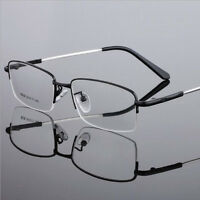 Designer Unisex Reading Glasses+1.0+2.0+3.0+4.0+5.0+6.0 Metal Memory Frame Black