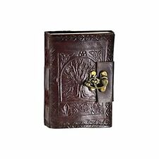 Tree of Life Handmade Leather Blank Travel Journal Book Home Diary Notebook Lock