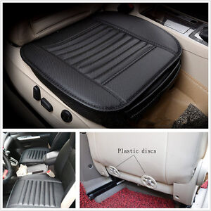 50*53cm Black Bamboo Charcoal Car SUV Seat Breathable Cushion Cover Universal
