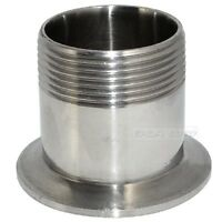 """1.5"""" DN40 Sanitary Male Threaded Pipe Fitting to TRI CLAMP (OD 64mm) Ferrule 304"""