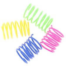 4Pcs Cat Spring Toy Plastic Colorful Coil Spiral Springs Pet Interactive ToyCW