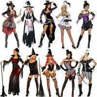 WOMENS SEXY Pirate Buccaneer WITCH HALLOWEEN FANCY DRESS Party COSTUME OUTFIT