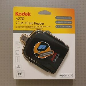 Kodak A270 72-in-1 Memory Card Reader USB 2.0 New and Sealed