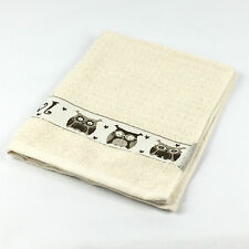 Luxury Riggs 100 Cotton Tea Towel / Kitchen Hand Separately Owls (cream)