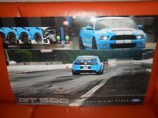 2013 Ford SHELBY Mustang GT 500 POSTER - 2 sided Original 35x24 NICE!