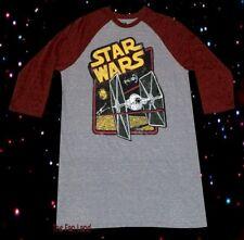 New Star Wars TIE Fighter Raglan Men's Vintage Throwback Classic T-Shirt