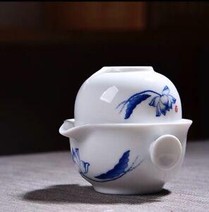 Chinese Gongfu Tea Quick Cup. Tea Pot Set 1 Pot+ 1 Cup