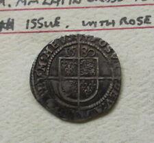 Great Britain 1580 Elizabeth I  Threpence 3d Silver Coin Better Grade