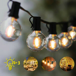 Garden Patio Outdoor String Lights Bulbs Mains Powered Outside 25ft UK