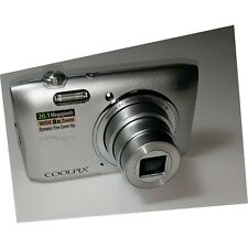 Nikon Coolpix S3600 20.1MP Digital Camera w/8x Zoom charger & manual Tested