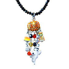 Kirks Folly Baby Peter Pumpkin Beaded Necklace ST Ghost, Owl, Candy Corn Charms