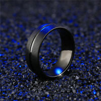 Fashion Band Ring Men&Women Stainless Steel Titanium Bridal Engagement Size 6-13