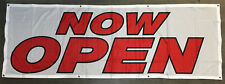 Now Open Banner Sign 2x6 ft Vinyl Alternative Grand Open Sign - Fabric wb