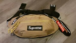 SUPREME WAIST BAG FANNY PACK TAN CAMEL BROWN CORDURA FABRIC SS18 NEW NWT