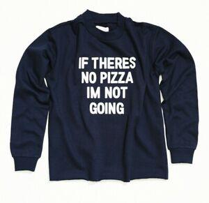 Crew Neck Sweatshirt Pullover Womens Fleece Rib Cuffs Raw Hem Pizza Logo