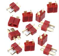 20 Stück (10 Paar) T-DEAN Goldstecker Stecker Dean T-Plug T-Stecker RC FPV LRP