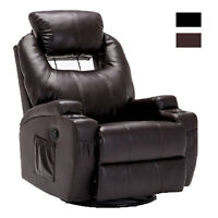 Electric Massage Chair Recliner Sofa Leather Vibrating Heated Ergonomic w/Remote