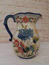 "Flora Pamela Gladding Vase Pitcher 11"""