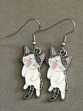 YAMADA CHI  Earrings Surgical Hook New Anime CAT Sweet Home (C)