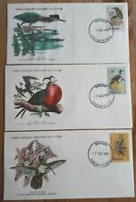 Barbados 1979 Set Of 3 World Wildlife Fund FDC's - Birds - MINT