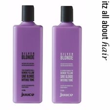 Juuce Silver Blonde Shampoo and Conditioner 375ml Duo
