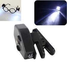 Universal Portable Mini Flashlight LED Clips On Eye Glasses For Working In Dark