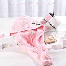 Quick Dry Microfiber Hair Drying Towel Turban Wrap Hat Cap Twist Bathing Tools