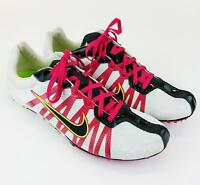 Nike Zoom Rival D Track & Field 414533-102 White/Pink/Black Womens Shoes 7.5