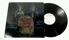 The RETURN OF THE LIVING DEAD Soundtrack LP 1985 Original Vinyl Cramps, Damned