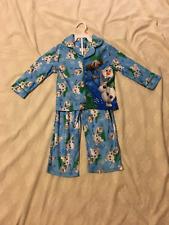 Disney Frozen: Unisex 2-Piece Long Sleeve-Legs Pajama Set: Blue/Multi, 4T