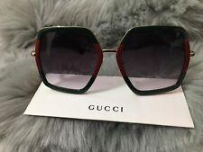 ✔️ Gucci Women's Fashion Oversize Sunglasses GG0106S 007 - Made In Japan