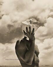 1986 Vintage HERB RITTS Male Nude Conch Shell Australia Beach Photo Art 16x20