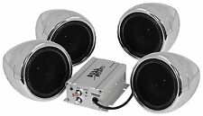 BOSS Chrome 1000 watt Motorcycle/ATV Sound System with Bluetooth Audio Streaming