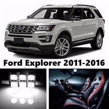 12pcs LED Xenon White Light Interior Package Kit for Ford Explorer 2011-2016