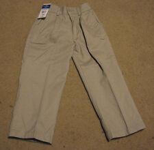 Boy's 4 pants Dockers elastic waist beige khaki uniform dress school pleated