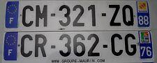 Nummernschilder aus Frankreich. Code 76,88. Alle mit Wappen und Euro. 12835b.