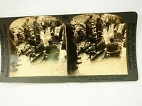 WWI Bringing in the Wounded on Stretchers Stiff and Blood Keystone Stereoview