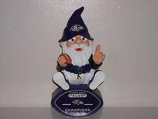 BALTIMORE RAVENS 2013 SBXLVII Super Bowl Champs Garden Gnome Statue Figurine New