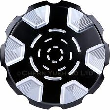Black Vented Fuel Gas Tank Cap Cover for Harley Touring Sportster XL1200 Softail
