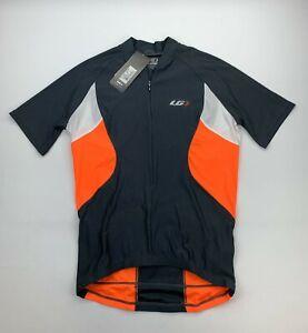 Louis Garneau Transit Jersey Men's Size Small Gray / Orange / White New