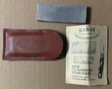 Vintage Ka-Bar Arkansas Knife Sharpening Stone with Leather Pouch