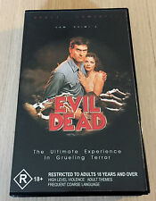 VHS Video - EVIL DEAD - Sam Raimi - Bruce Campbell - Empire Films - R18+