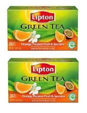 Lipton Green Tea Orange Passionfruit Jasmine Tea Bags 2 Box Pack